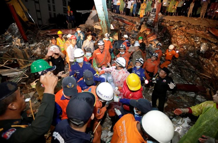 Death toll rose 17 after a building collapsed in Cambodia