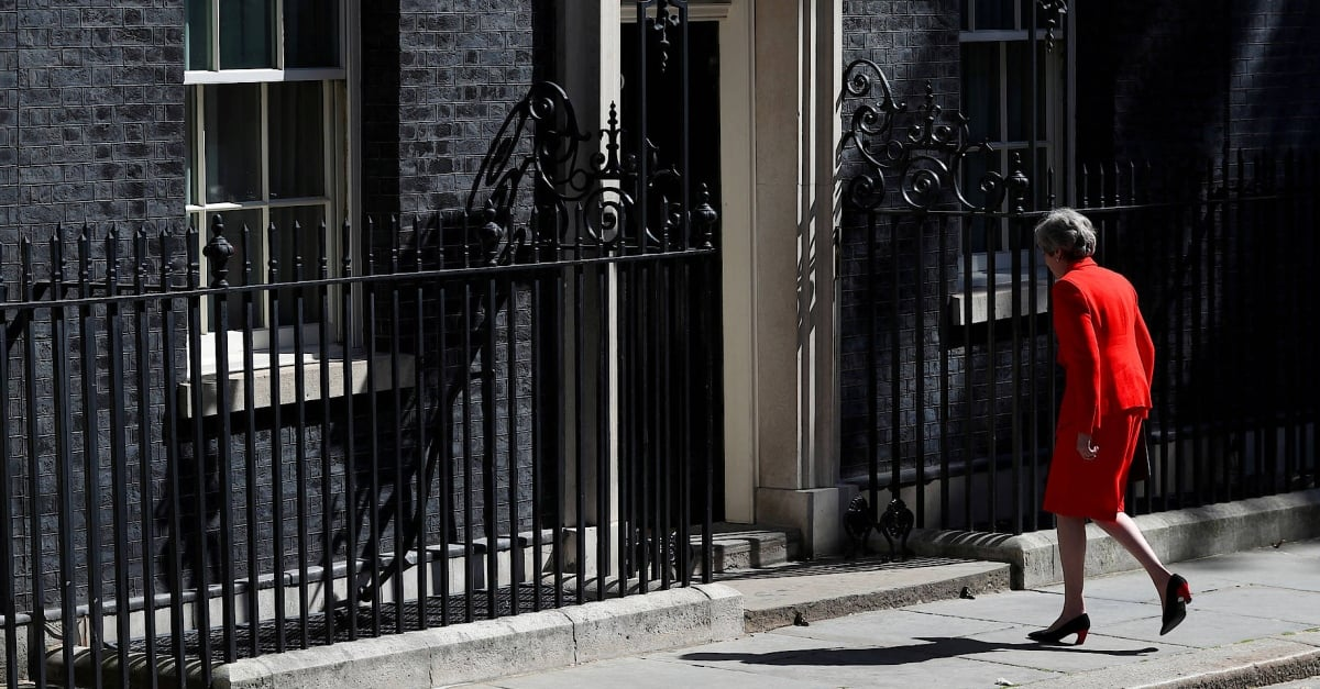 Theresa May leaves office as party leader
