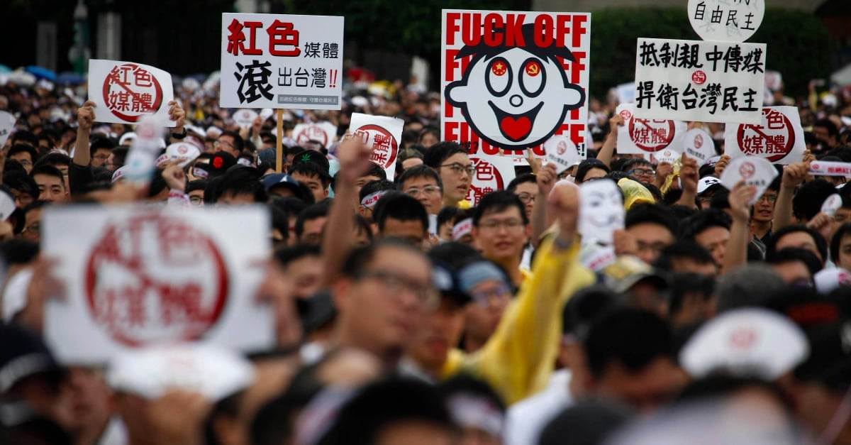 Thousands demonstrate in Taiwan against pro-Chinese media