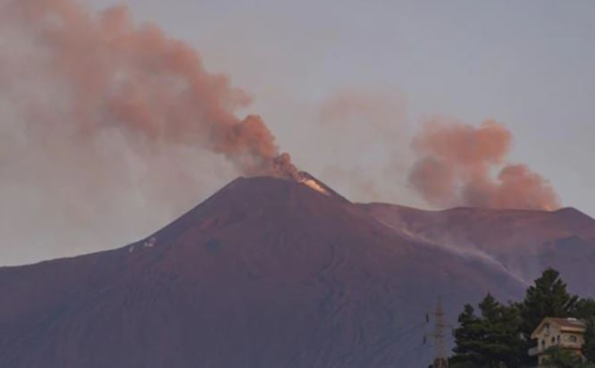 Europe's largest active volcano erupted