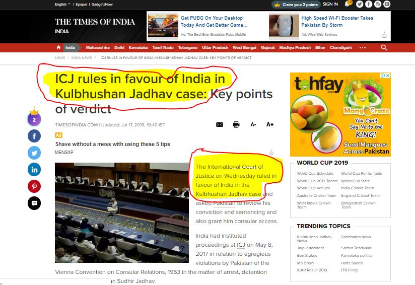 India top media exposed in Jadhav case, completely loses credibility