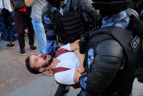 Moscow protests: Number of detainees rose to 1074