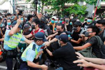 China suspects coup attempt in Hong Kong by the United States