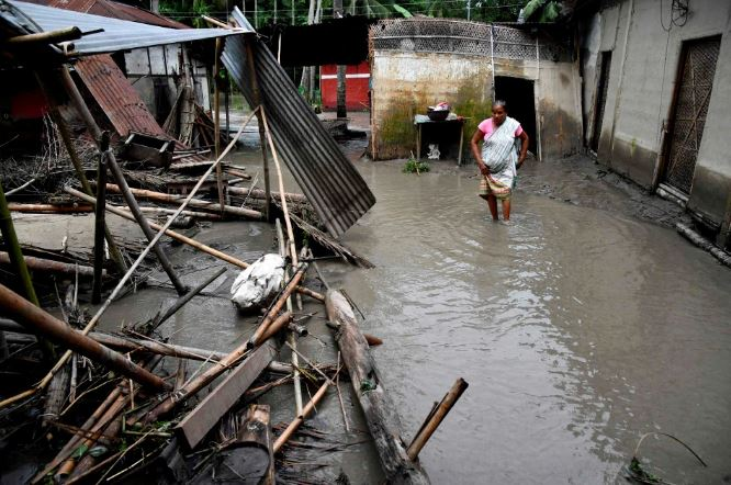 Monsoon rain swallows 10 lives, over a million displaced in India