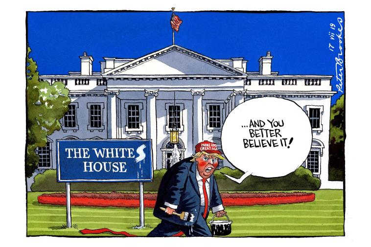 "White House turns into a ""The whites house"" only in Trump era"