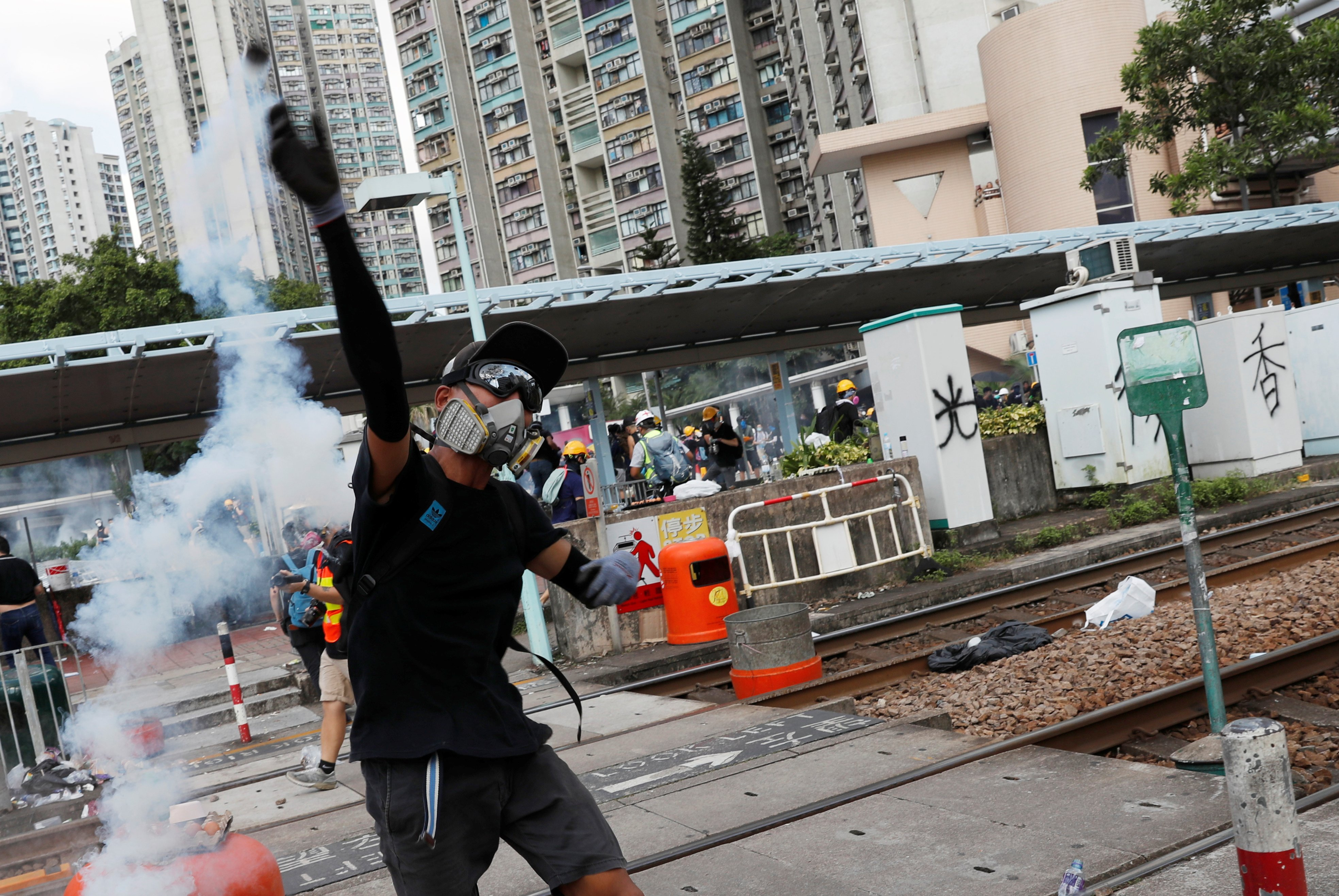 Demonstrations continue in Hong Kong city on first day of open strike