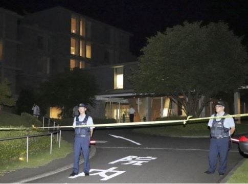A Japanese man stabbed 4 people in a hospital