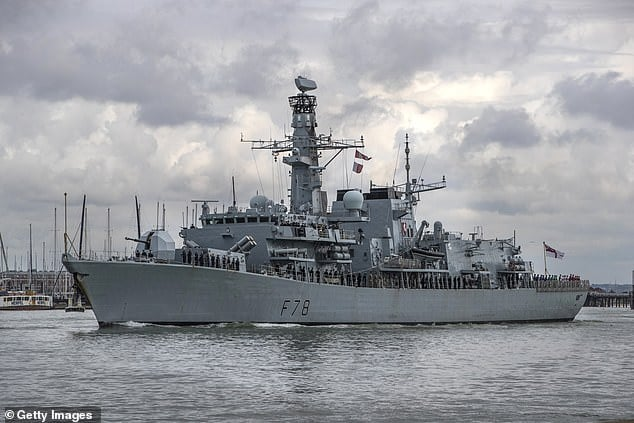 British warship set sail for the escort mission in Gulf