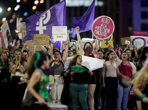 Thousands of women demonstrate in Mexico to protest against police brutality