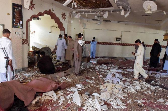 Five dead, 15 injured in a mosque explosion in Pakistan