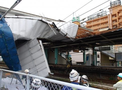 Typhoon Faxai enters Japan: One dead, 30 people injured in various areas