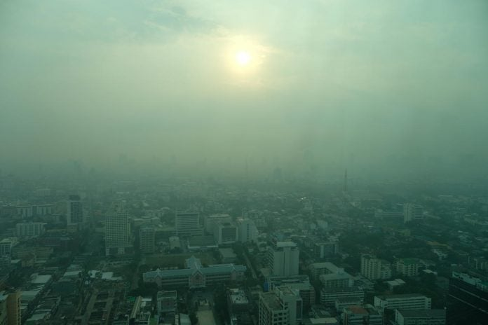 Air pollution reduces the amount of sunlight reaching the Earth