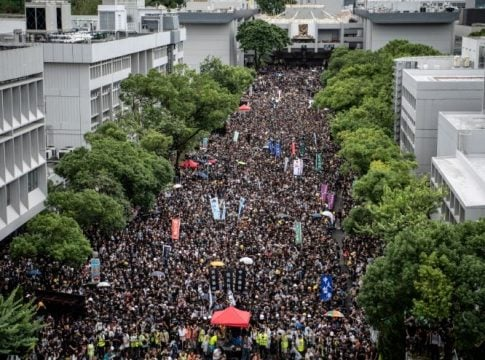 Point of no return: Thousands of Hong Kong students prefer protests over books