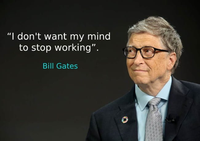 Bill Gates speaks of his greatest fear-I don't want my mind to stop working