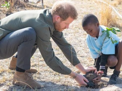 Prince Harry calls for an end to greed and selfishness for the environment