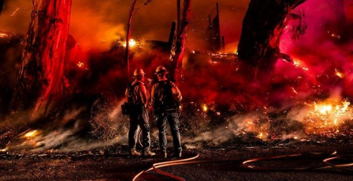 New fires erupted in California