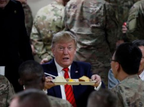 Afghanistan: Trump's surprise visit to celebrate Thanksgiving with US troops