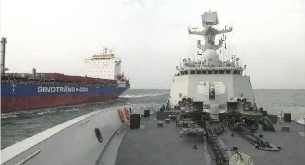 Chinese military explores new ways of replenishment supply at sea