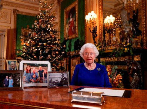 Queen Elizabeth is looking forward to Christmas and reunification