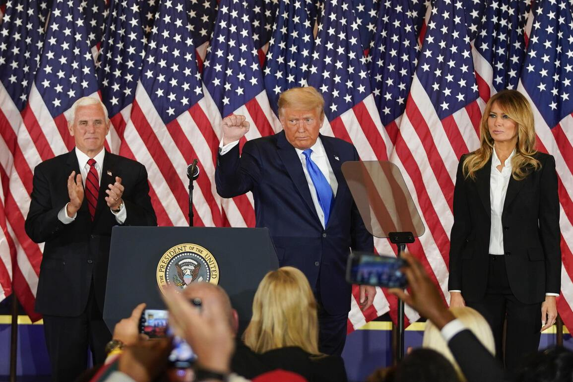 On election night of November 4, Donald Trump was confident of victory. And Mrs. Melania supported him at his side. Bloomberg via Getty Images